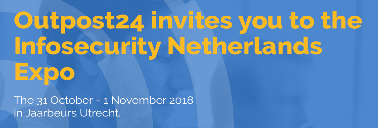 Outpost24 attends Infosecurity Netherlands 2018