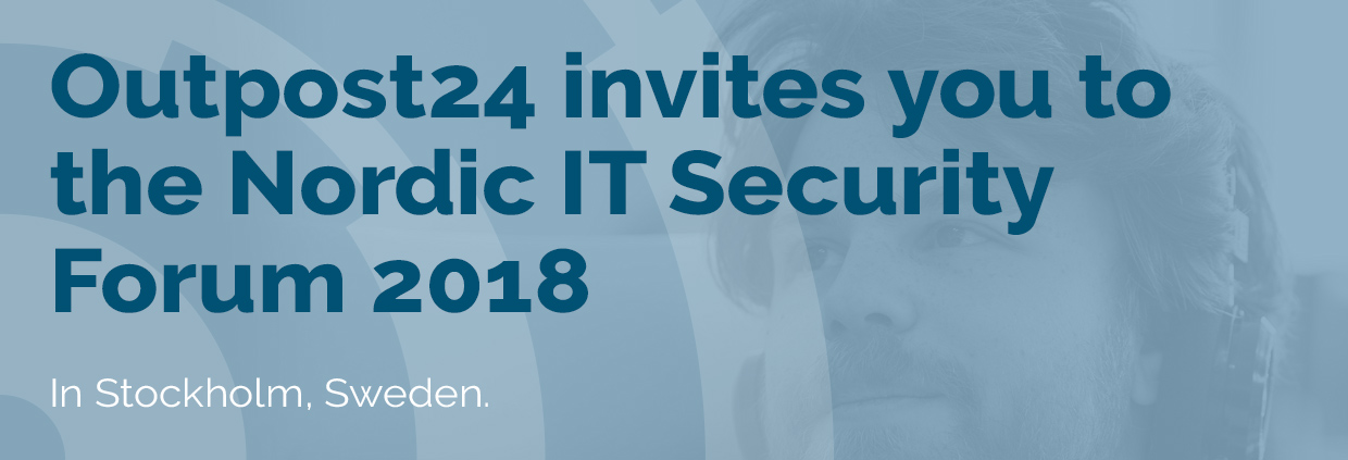 Outpost24 attends Nordic IT Security Forum 2018