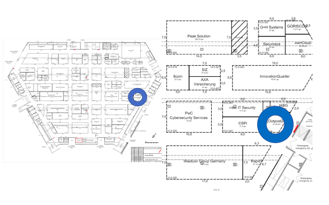 Outpost24 at itsa 2018. Floorplan booth 10.0-326
